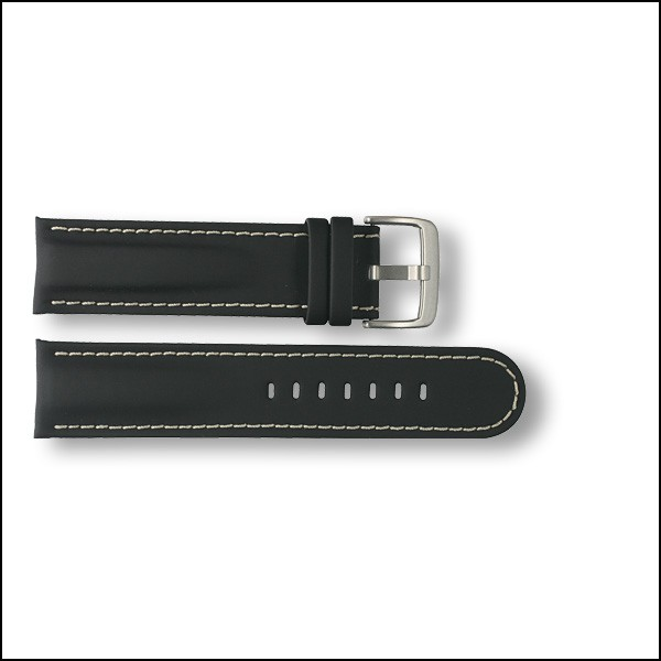 Rubberized leather strap Leviathan - 22mm