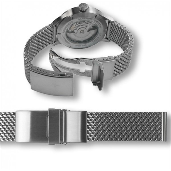 Milanaise mesh bracelet with diver buckle