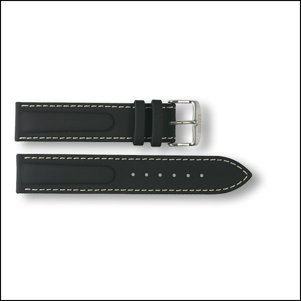 Rubberized leather strap Endurance - 20mm