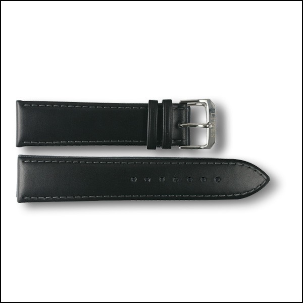 Leather strap Chyros - black - 22mm