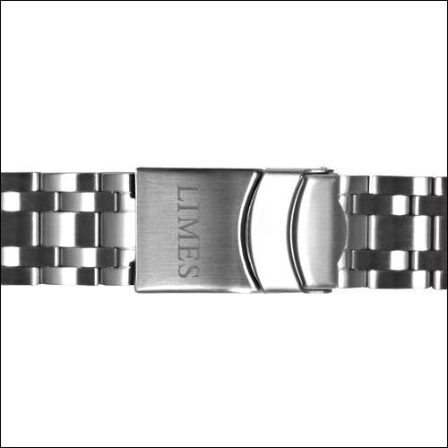 Stainless steel bracelet with diver buckle